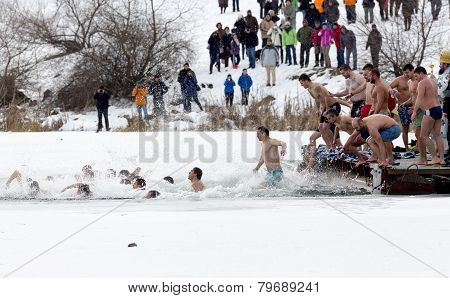 Epiphany Day Cold Water Jump