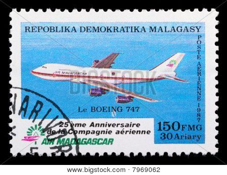 Madagascar Air Mail Stamp