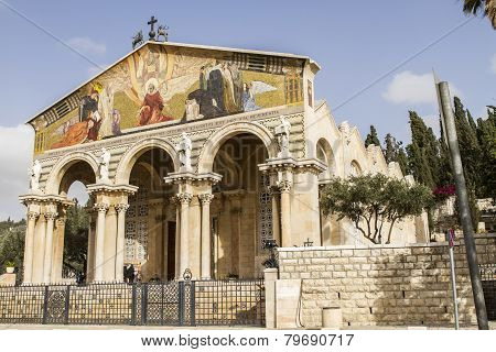 Church Of All Nations In Mount Of Olives In Jerusalem