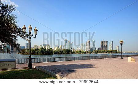 Embankment. Khalid Lagoon. Sharjah.