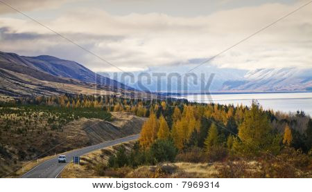 Autumn Alpine Road