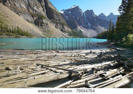 Moraine Lake Landscape. Alberta. Canada