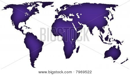 Royal purple Karte der Welt