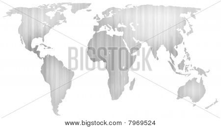 Photocopier textured map of the world
