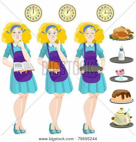Cute Housewife Cooks