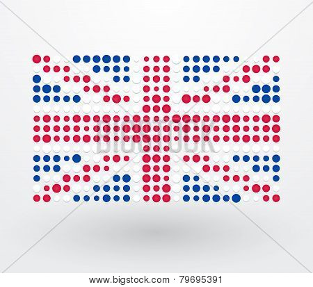 Great Britain Flag Made ??up Of Dots