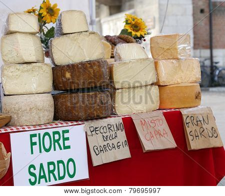 Sardinian Origin Cheese For Sale In The Local Market