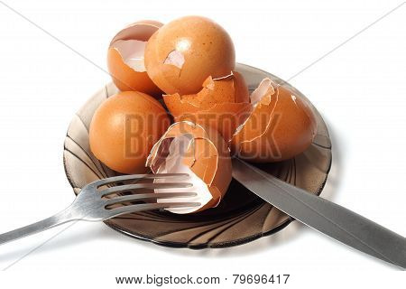Dish With Egg Shells
