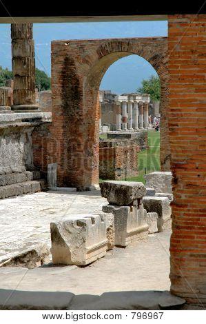 Arches & Columns In Pompeii, Italy