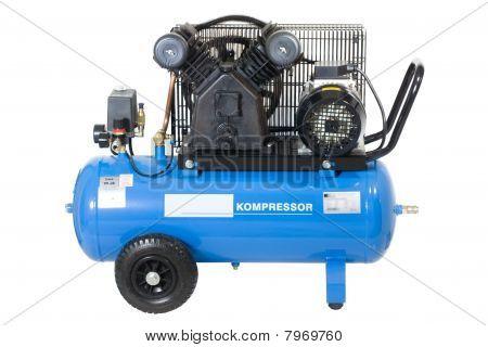 Compresor azul.