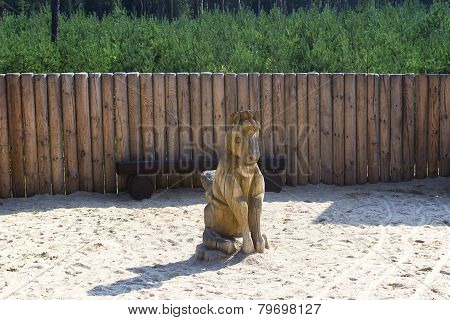 Wooden Horse Statue By Palisades