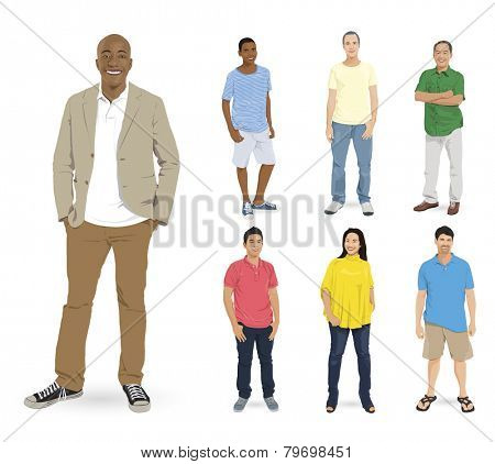 Diverse People Vector