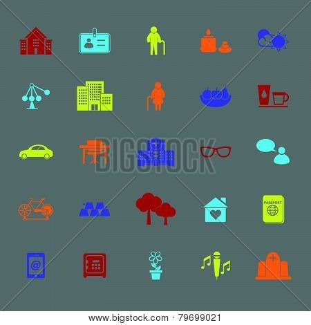 Retirement Community Color Icons