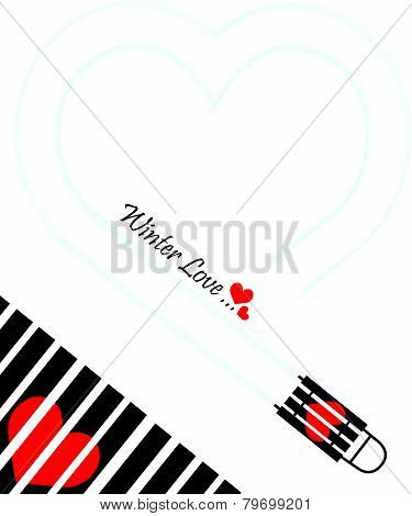 Winter Love Valentines Day Gift Card