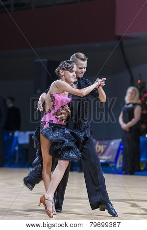 Professional belarussian dance couple of Gaidyulk Alexander and Zhuk Yana performs Youth-2 Program