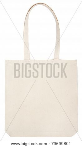 Fabric Eco Bag On White