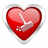 image of broom  - broom valentine icon clean sign  - JPG