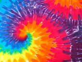 foto of hippy  - Close up of a tie dye shirt - JPG