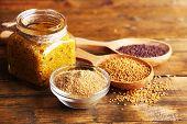 pic of mustard seeds  - Mustard seeds - JPG