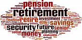 stock photo of retirement  - Retirement word cloud concept - JPG