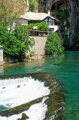 image of sufi  - Dervish house in Blagaj Buna near to Historical Mostar in Bosnia and Herzegovina  - JPG