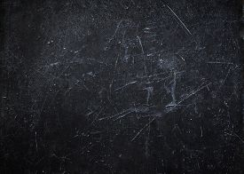 image of chalkboard  - Abstract black background with scratches - JPG