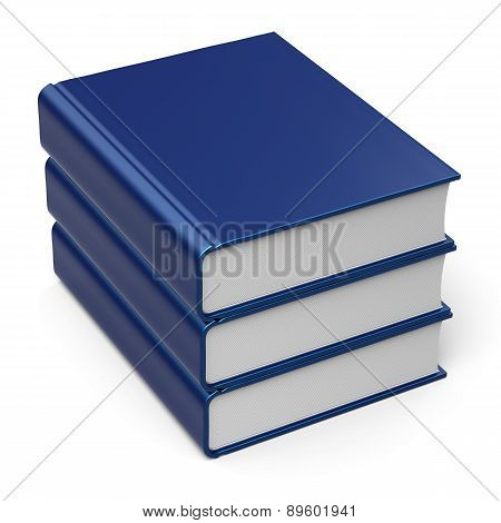 Book Stack Blank Cover Blue 3 Three Archive Content Icon