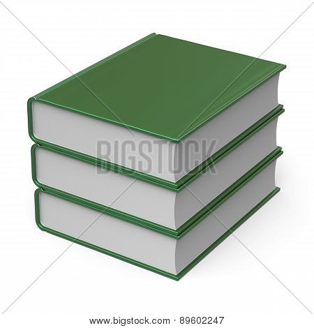 Book Stack Blank Cover Green 3 Three Archive Content Icon