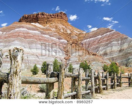 Colorful Cliffs at Pariah, Utah