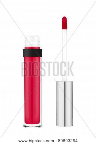 Beautiful Lip Gloss Isolated On White