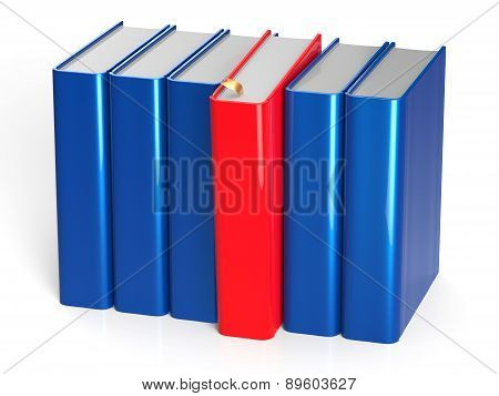 Books Row One Red Selected Choice Leadership Take Answer