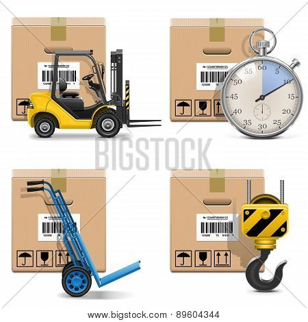 Vector Shipment Icons Set 12