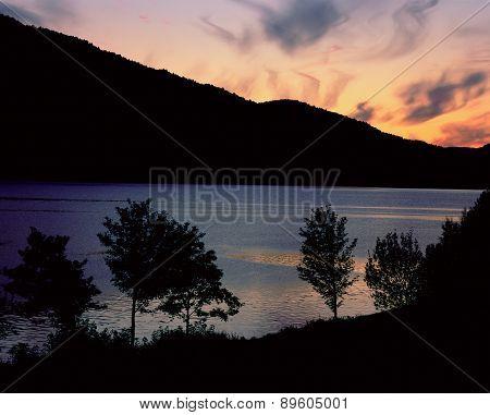 Sunset scene in North Norway