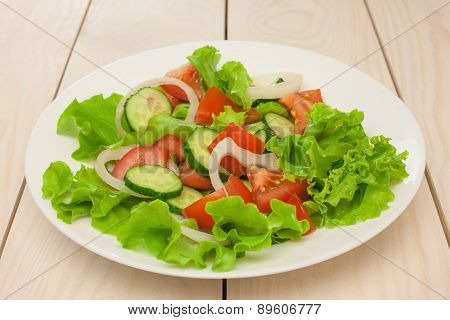 Salad In White Plate