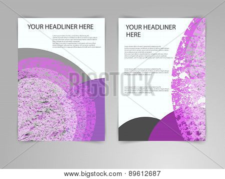 Abstract blue and green Brochure Flyer design vector template in A4 size. Eco, biology, beauty and m