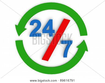 24 by 7 concept