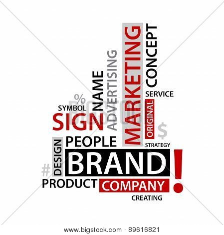 Word Cloud with branding tags,  business concept