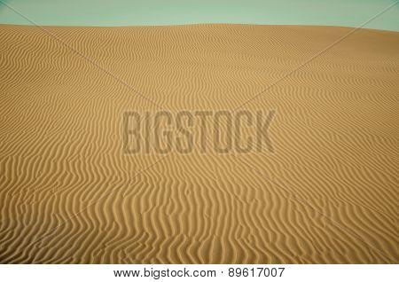 Sand Dunes Of Desert