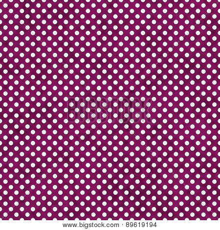 Dark Pink And White Small Polka Dots Pattern Repeat Background