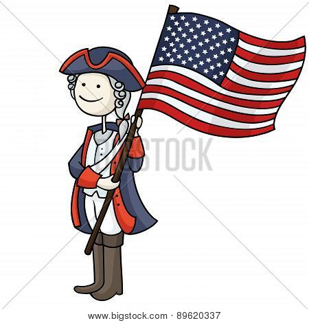 Patriot Boy In A 4Th Of July