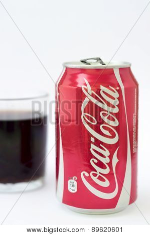 Coca-Cola Can on White Background