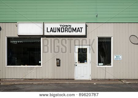 Laundromat Old, Run-down Exterior