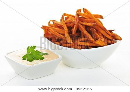 Sweet Potato Fries With Sauce