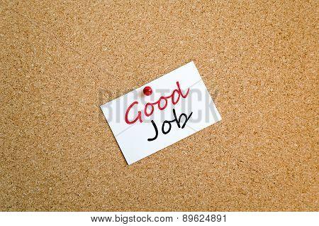 Sticky Note Good Job Concept