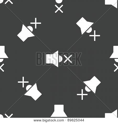 Muted loudspeaker pattern
