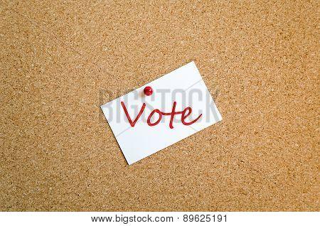 Sticky Note Vote Concept