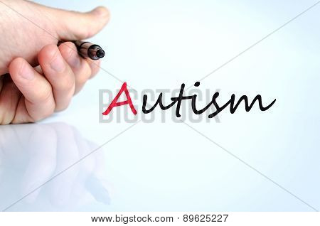 Pen In The Hand Autism Concept