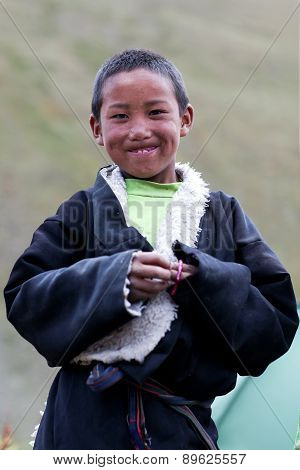 Tibetan boy in Dolpo, Nepal