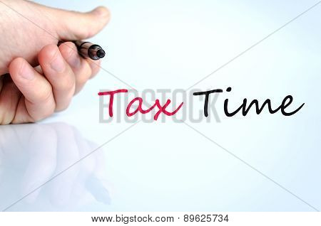 Pen In The Hand Tax Time Concept