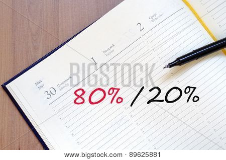 Yellow Notepad Percent Concept